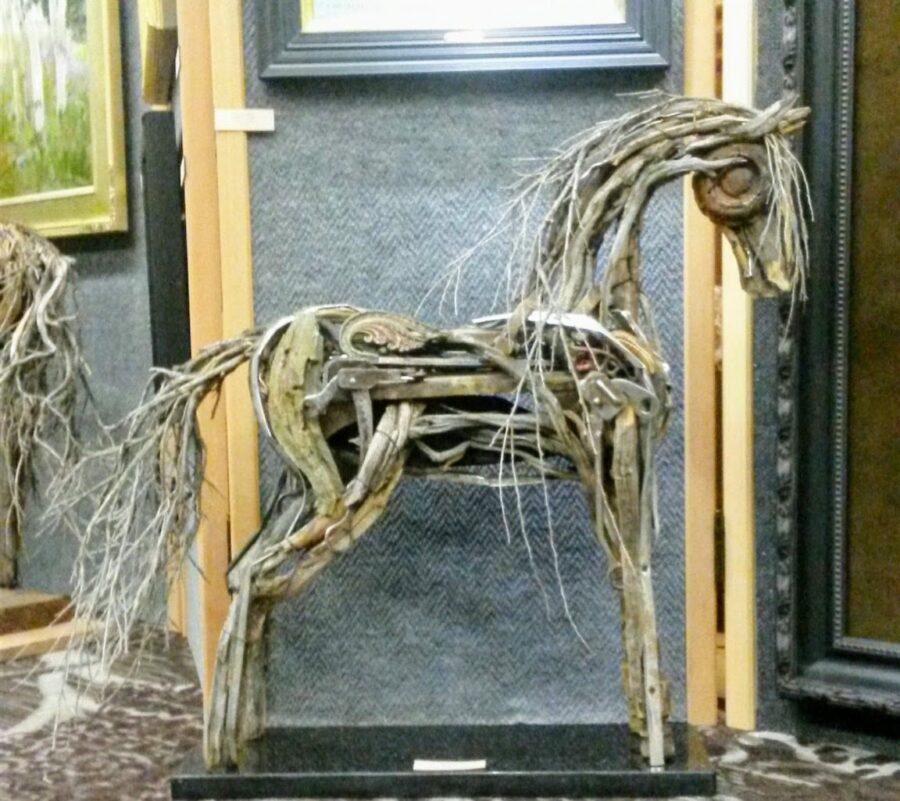 Photo of mixed media horse sculpture by Brenna Kimbro
