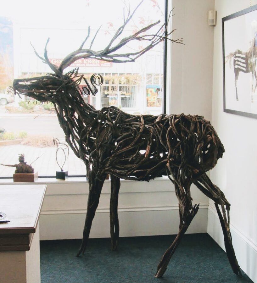 Photo of mixed media elk sculpture by Brenna Kimbro