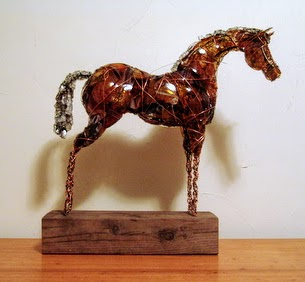 Photo of mixed media horse sculture by Brenna Kimbro