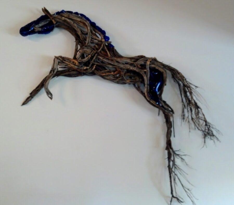 Photo of mixed media horse wall hanging by Brenna Kimbro