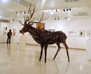 Photo of mixed media elk by Brenna Kimbro