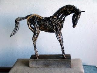 Photo of mixed media sculpture by Brenna Kimbro