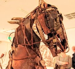 Photo of mixed media horse by Brenna Kimbro